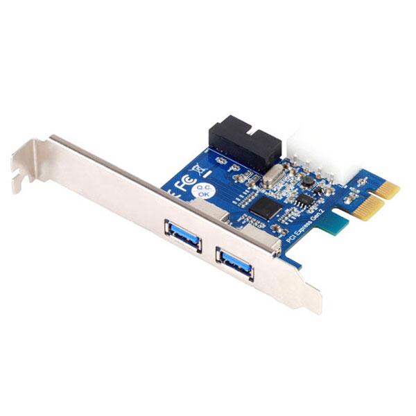 Carte contrôleur Silverstone EC04-P Carte contrôleur PCI Express 2.0 1x à 4 ports USB 3.0 (2 externes + 2 internes) avec alimentation Molex