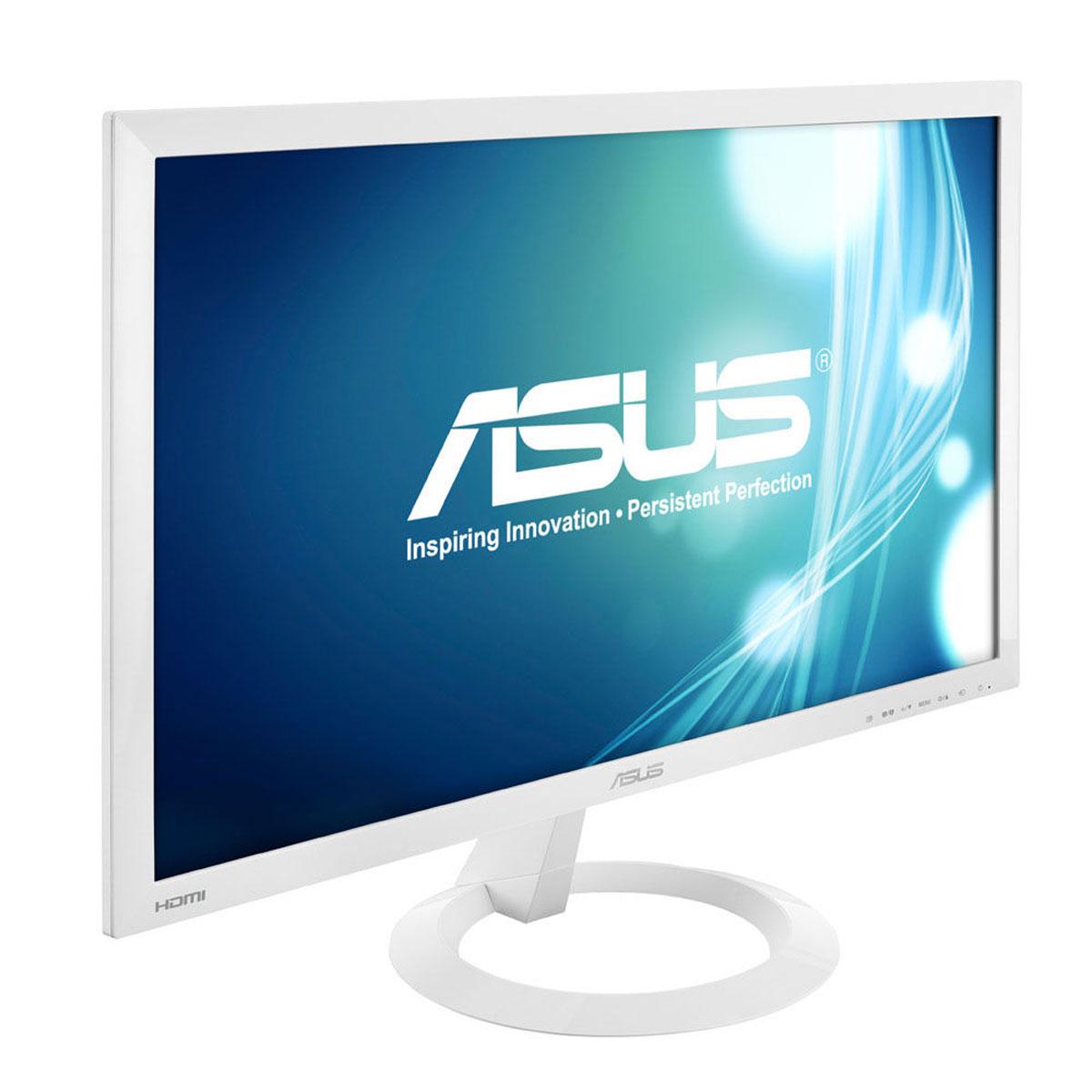 Asus 23 led vx238h w blanc ecran pc asus sur for Video ecran pc