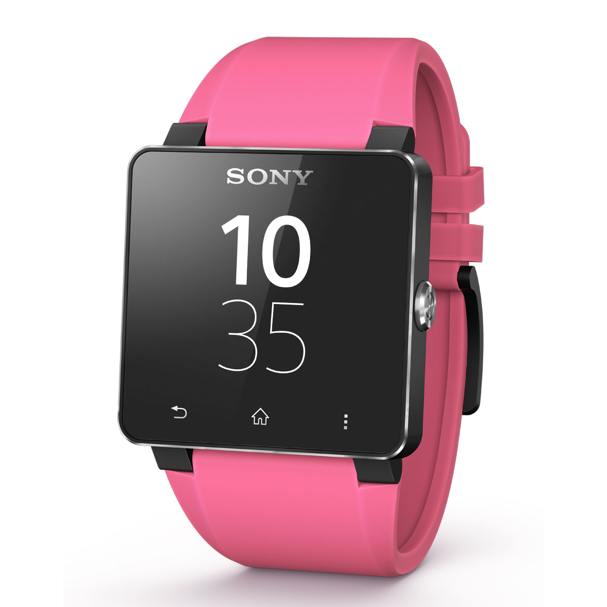 sony bracelet pour smartwatch 2 silicone rose montre. Black Bedroom Furniture Sets. Home Design Ideas