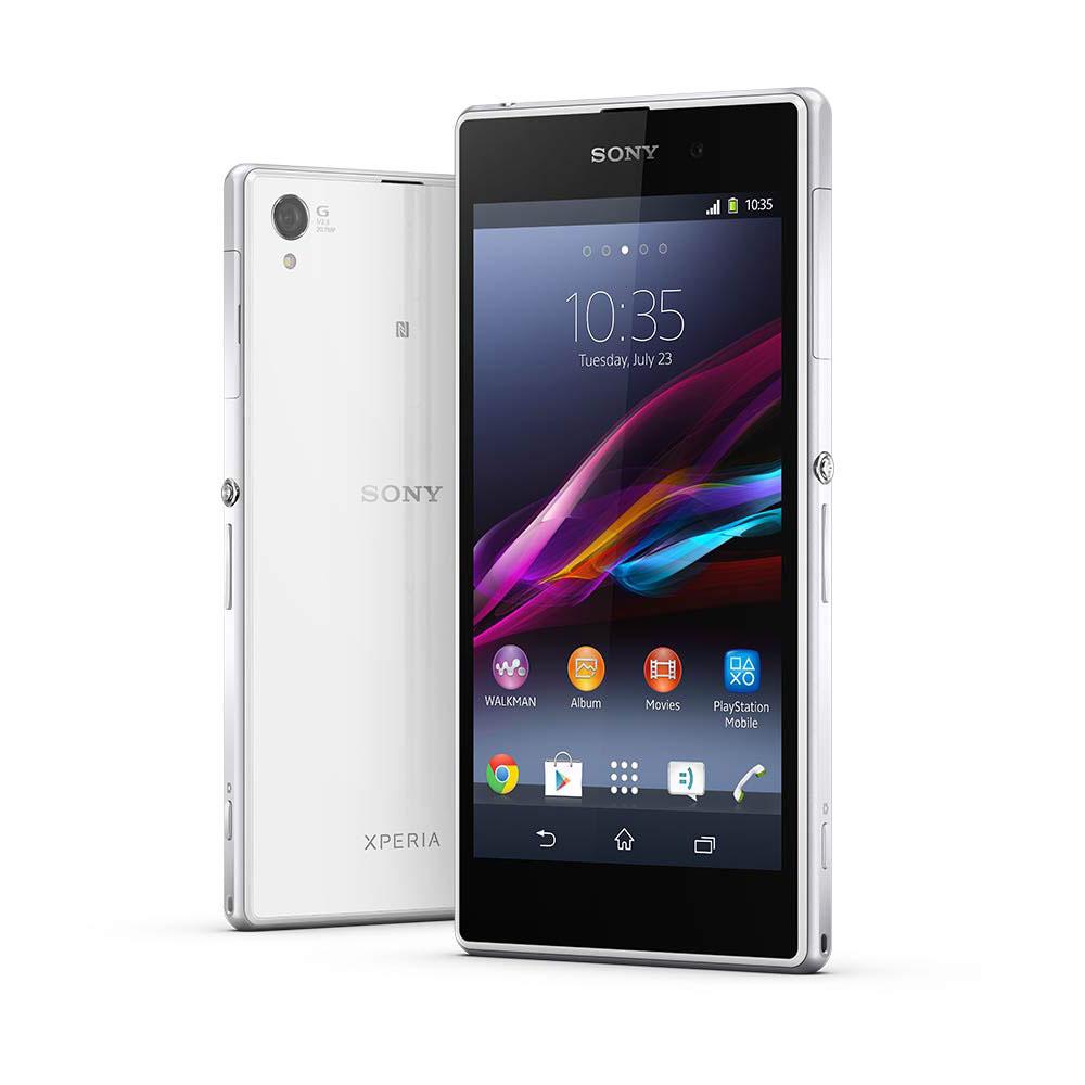 "Mobile & smartphone Sony Xperia Z1 Blanc + Dock DK31 Smartphone 4G-LTE baroudeur certifié IP55/58 avec écran tactile Full HD TRILUMINOS 5"" sous Android 4.2"