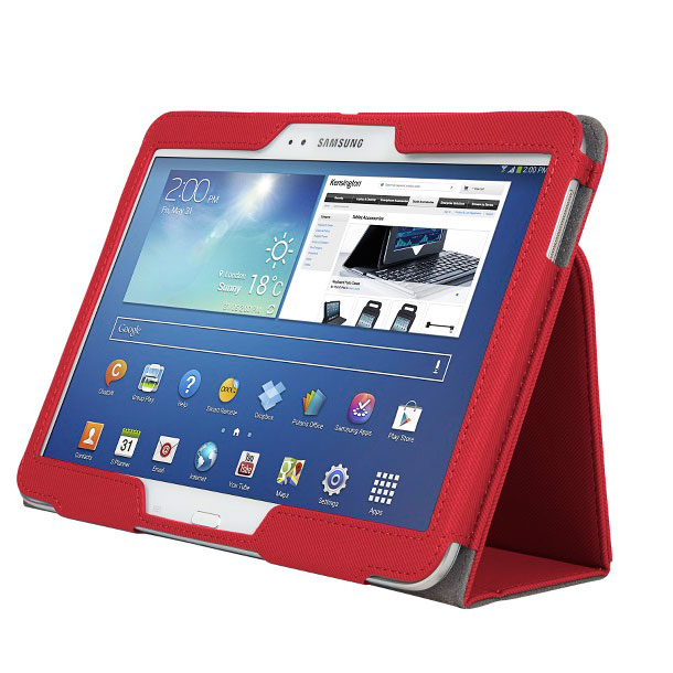 kensington comercio soft folio case rouge etui tablette kensington sur. Black Bedroom Furniture Sets. Home Design Ideas