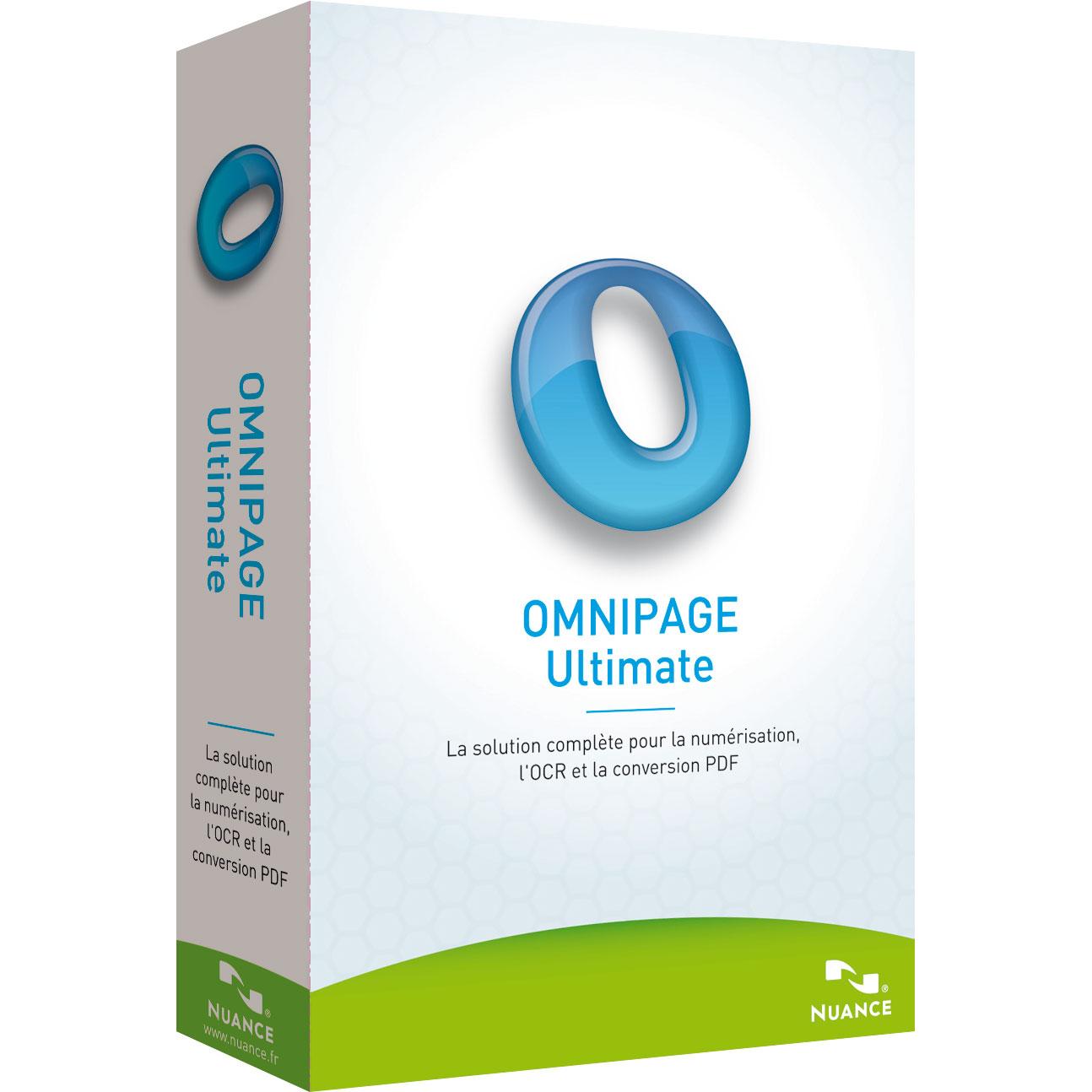 Logiciel OCR Nuance OmniPage Ultimate OmniPage Ultimate (français, WINDOWS)