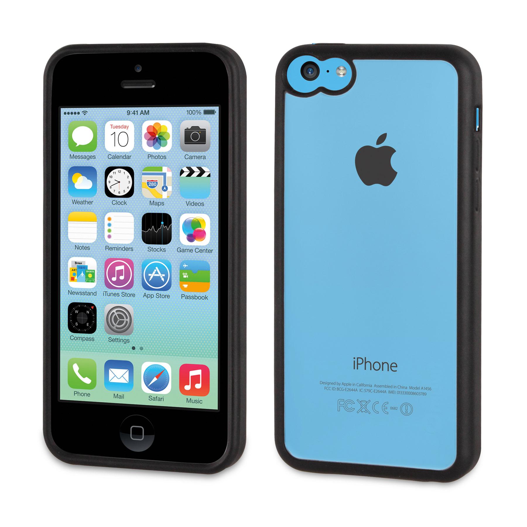 Etui téléphone Muvit Housse bimatière noire pour iPhone 5C Housse bimatière noire (pour iPhone 5C)