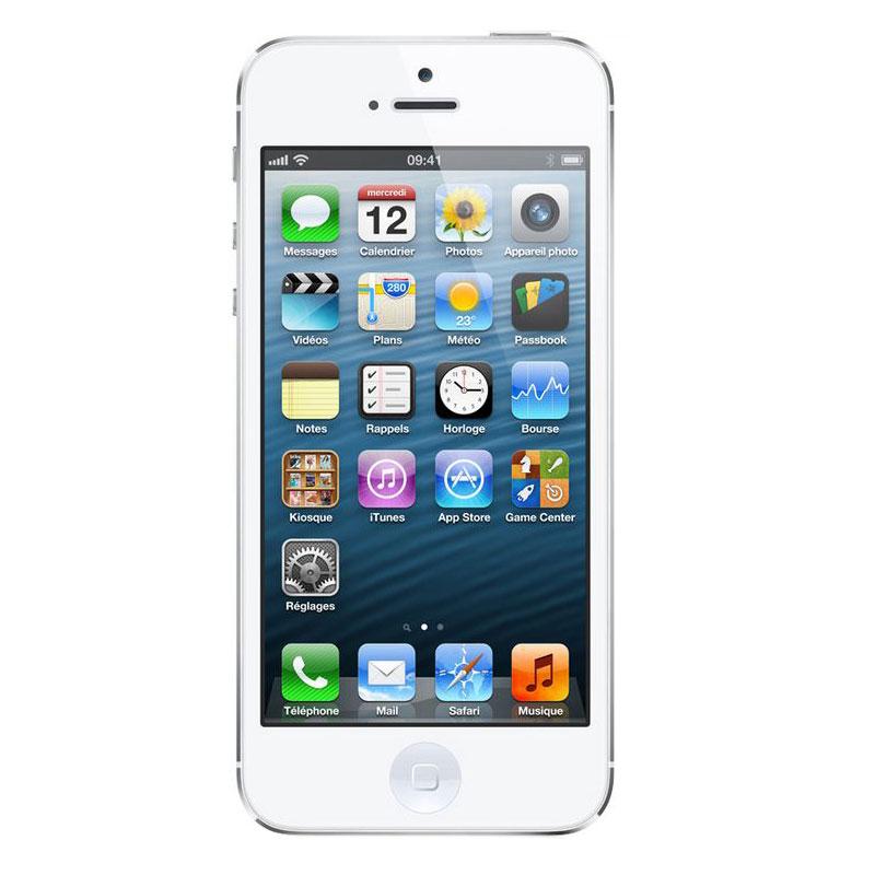 apple iphone 5 64 go blanc mobile smartphone apple sur. Black Bedroom Furniture Sets. Home Design Ideas