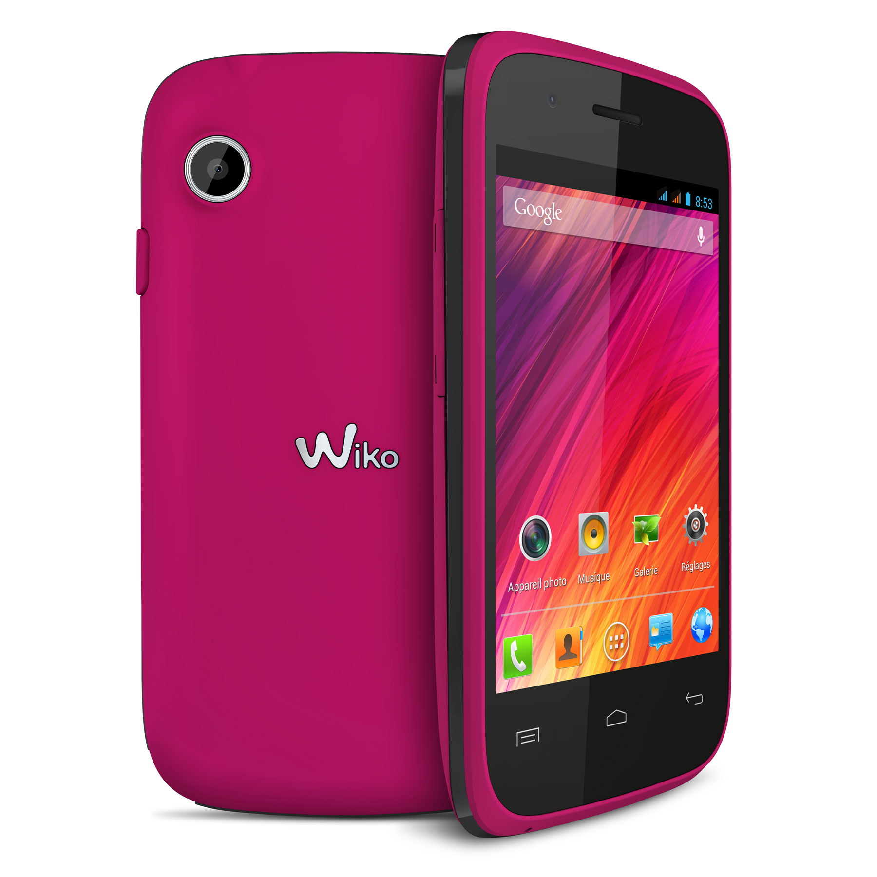 wiko ozzy rose fuchsia mobile smartphone wiko sur. Black Bedroom Furniture Sets. Home Design Ideas