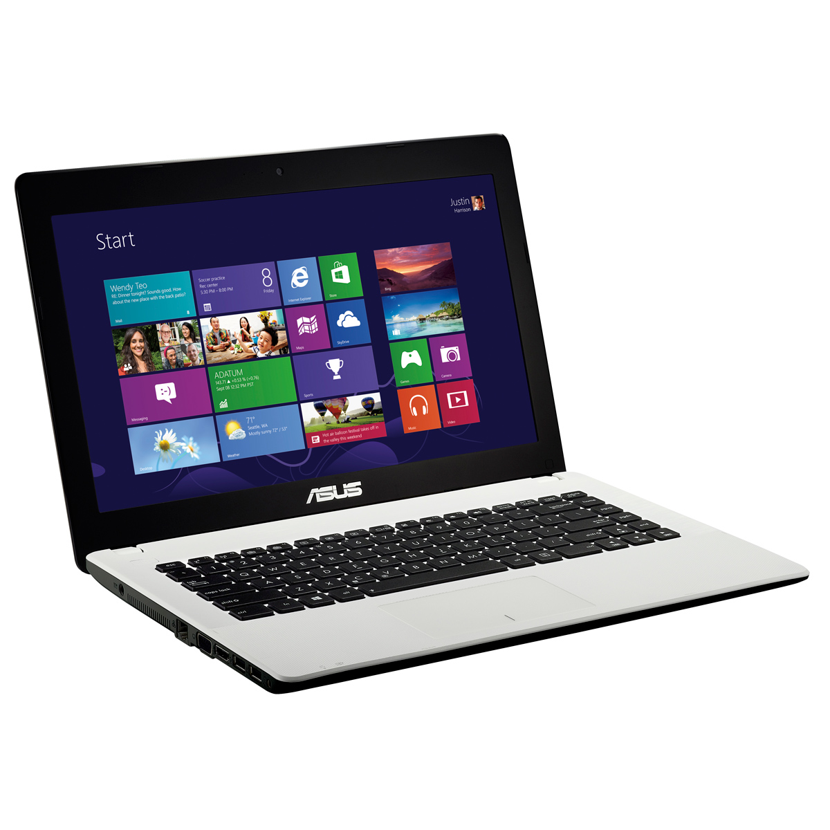 "PC portable ASUS X451CA-VX092H Intel Pentium 2117U 4 Go 750 Go 14"" LED Graveur DVD Wi-Fi N Webcam Windows 8 64 bits (garantie constructeur 1 an)"