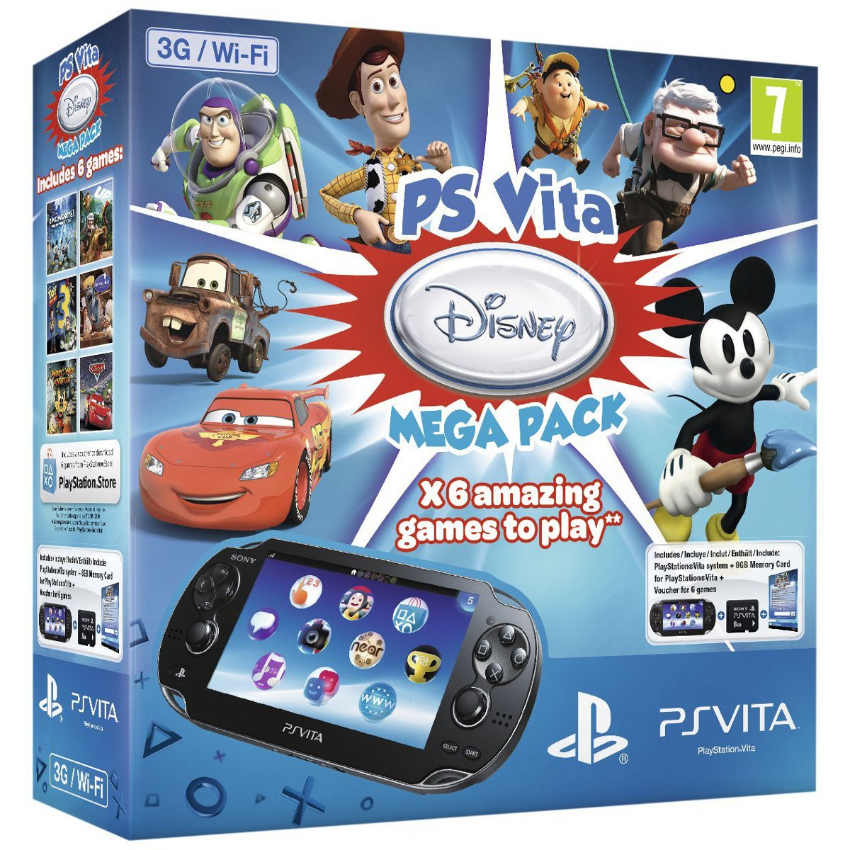 sony ps vita 3g wifi noire 6 jeux carte memoire 8 go sony interactive. Black Bedroom Furniture Sets. Home Design Ideas