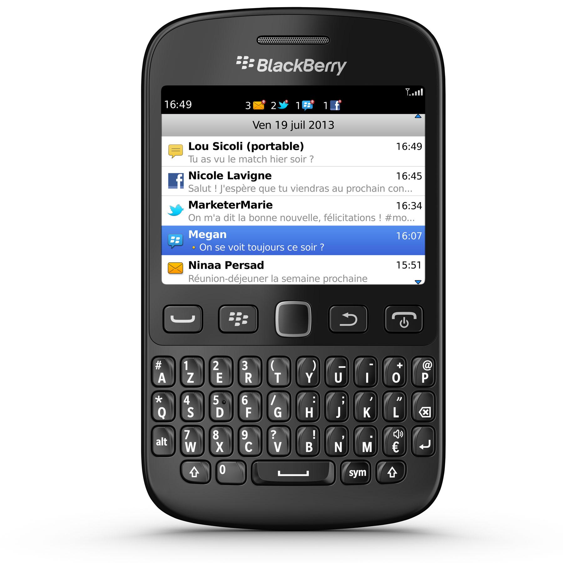 blackberry 9720 azerty noir mobile smartphone. Black Bedroom Furniture Sets. Home Design Ideas