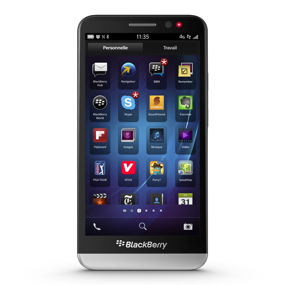 Blackberry z30 noir mobile smartphone blackberry sur for Photo ecran blackberry