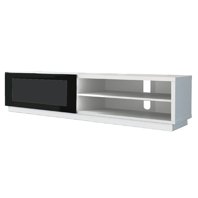 De conti stile 1 blanc meuble tv de conti sur for Meuble hifi blanc
