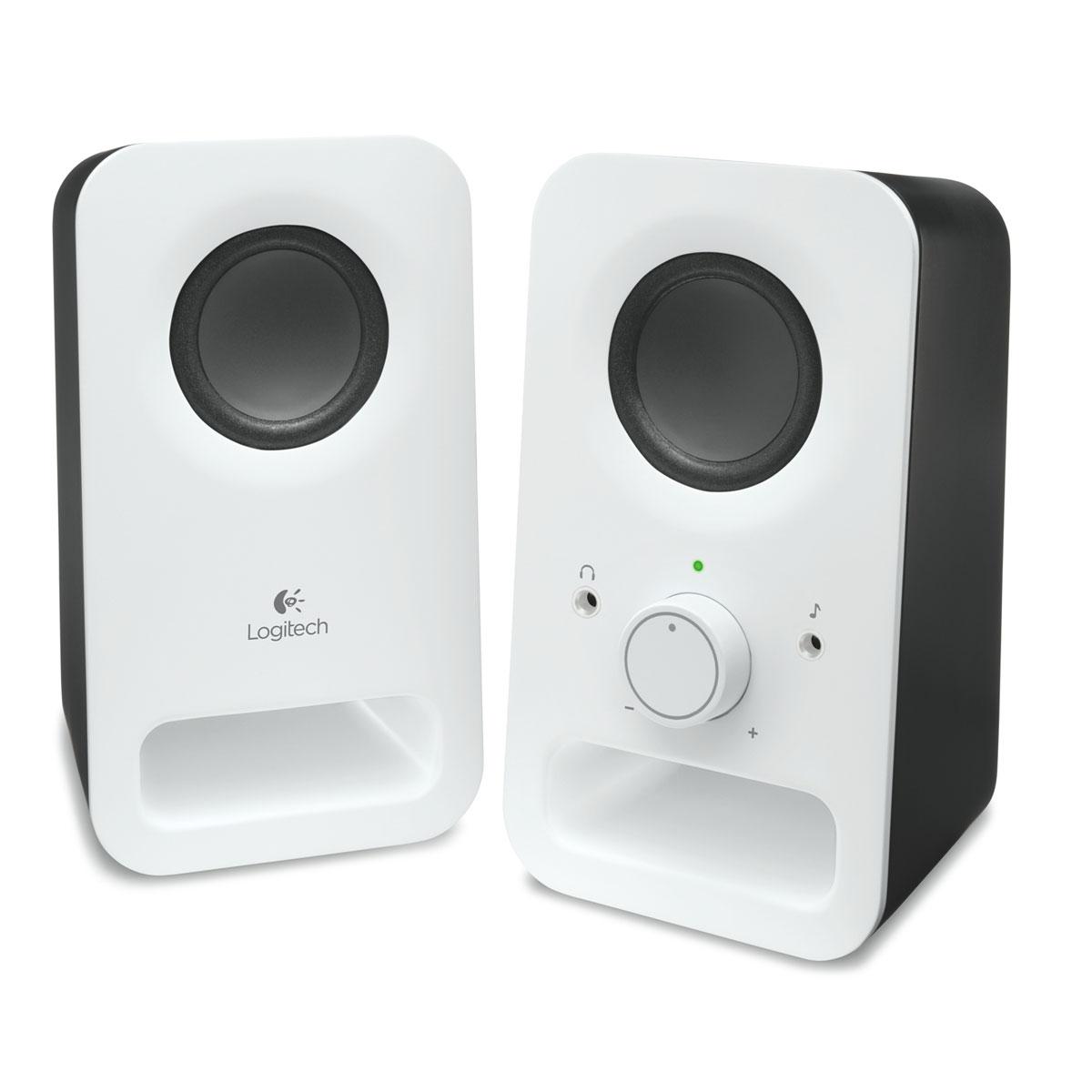 Enceinte PC Logitech Multimedia Speakers Z150 Blanc Ensemble 2.0 - 3 Watts - Jack 3.5 mm