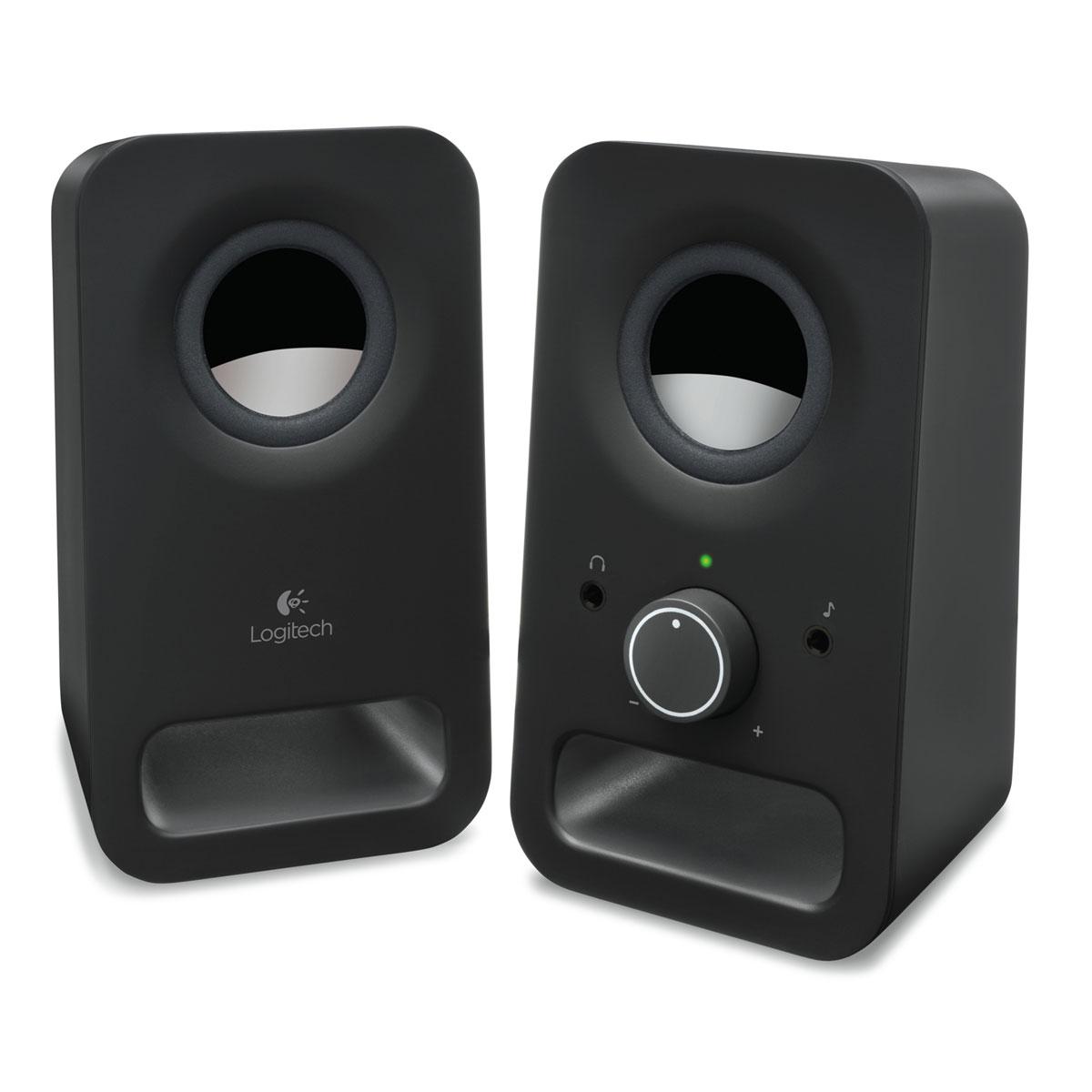 Enceinte PC Logitech Multimedia Speakers Z150 Noir Ensemble 2.0 - 3 Watts - Jack 3.5 mm