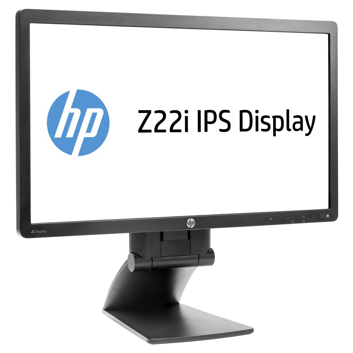 "Ecran PC HP 21.5"" LED - Z22i (D7Q14AT) 1920 x 1080 pixels - 8 ms (gris à gris) - Format large 16/9 - Dalle IPS - DisplayPort - Hub USB - Noir"