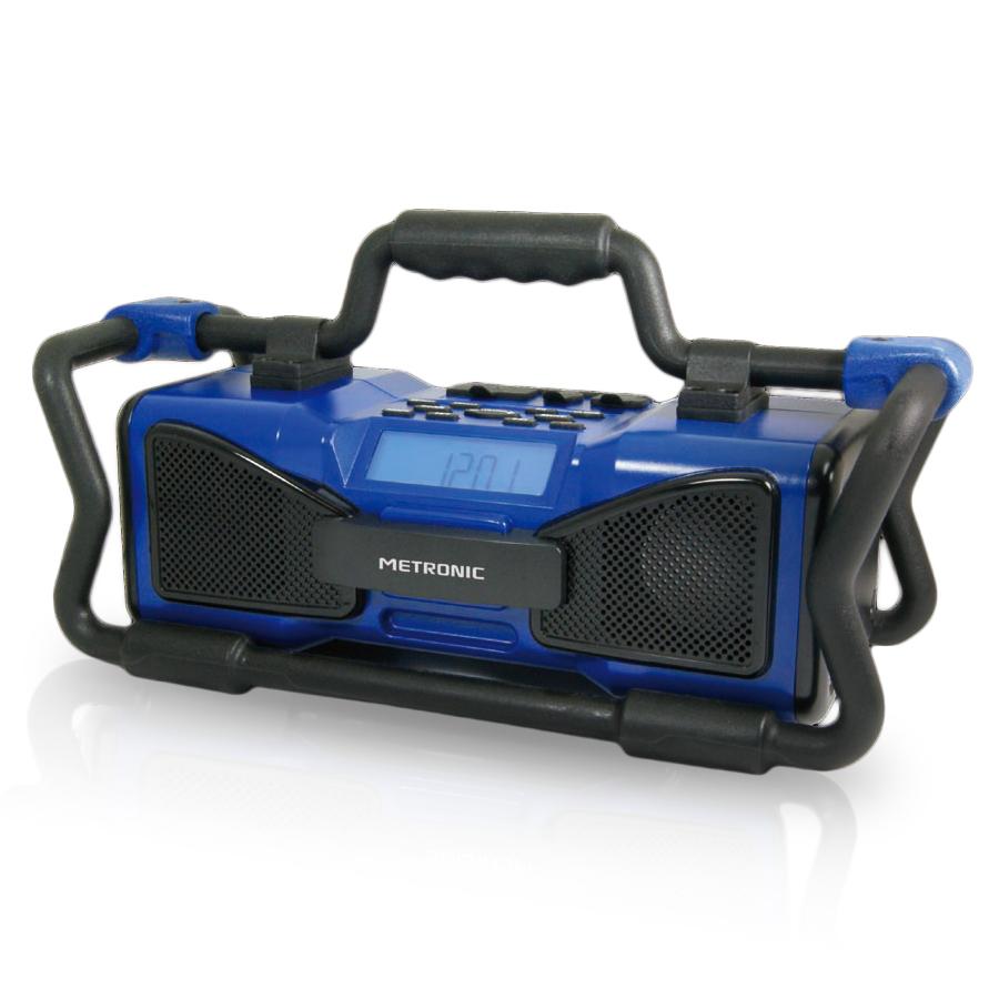 metronic radio de chantier bleu radio radio r veil metronic sur. Black Bedroom Furniture Sets. Home Design Ideas