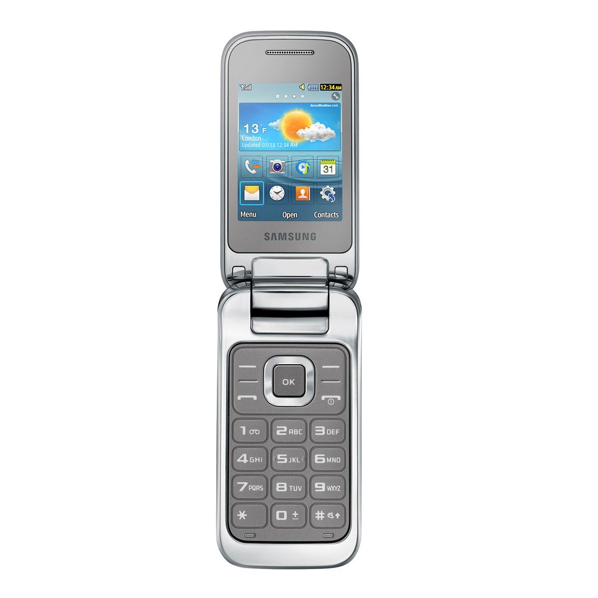 samsung c3590 gris m tallique mobile smartphone samsung sur. Black Bedroom Furniture Sets. Home Design Ideas