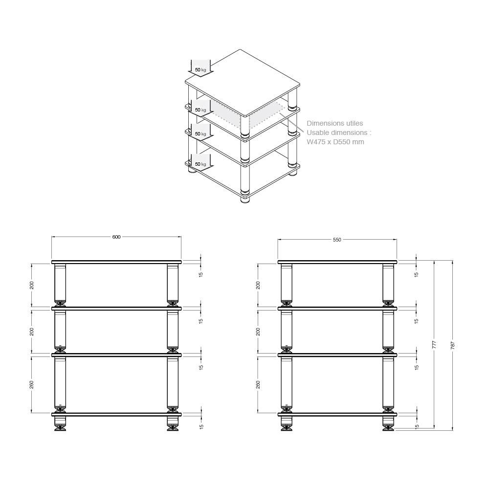 Norstone stabbl hifi meuble tv norstone sur ldlc - Fabriquer meuble hifi ...