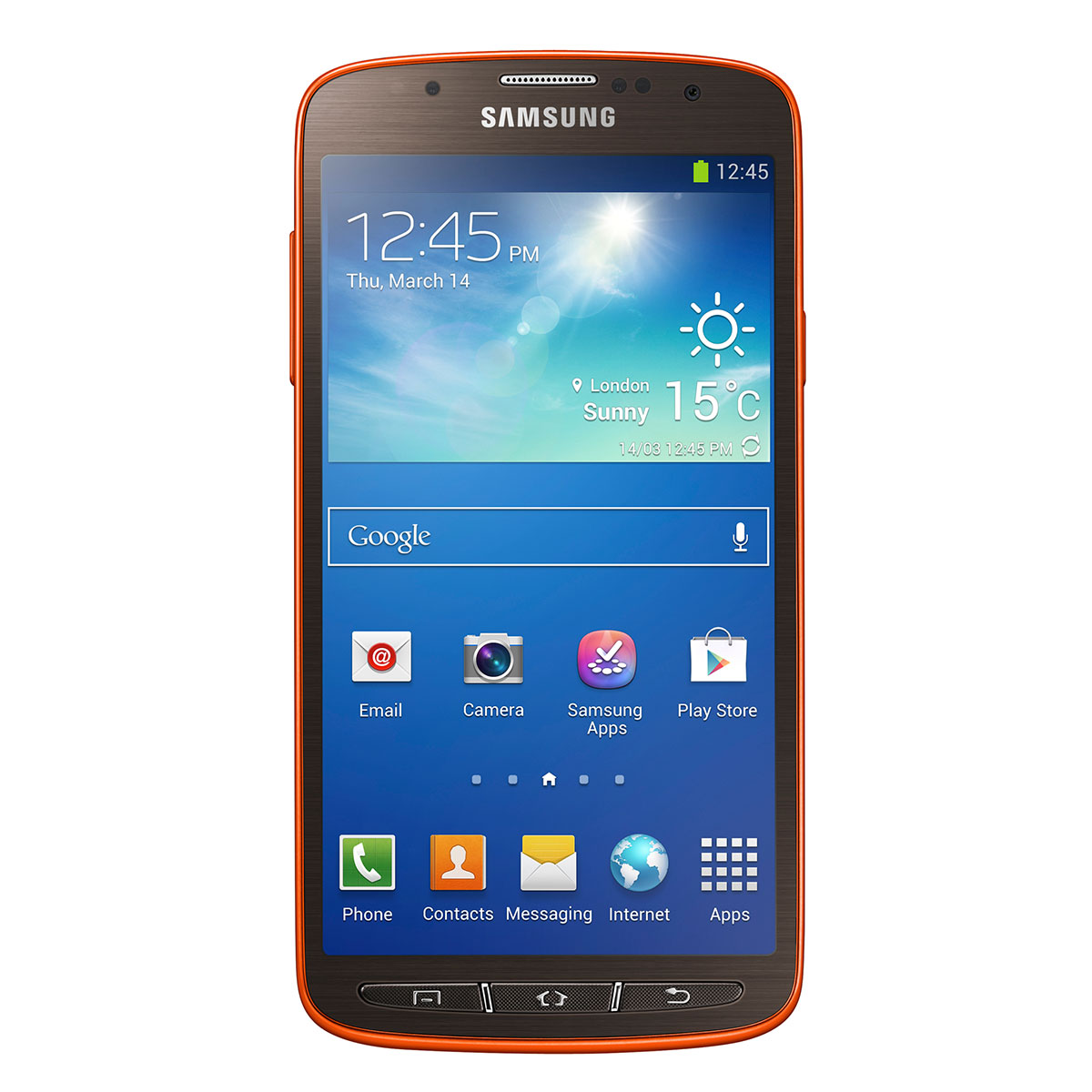 samsung galaxy s4 active gt i9295 orange flare 16 go mobile smartphone samsung sur. Black Bedroom Furniture Sets. Home Design Ideas
