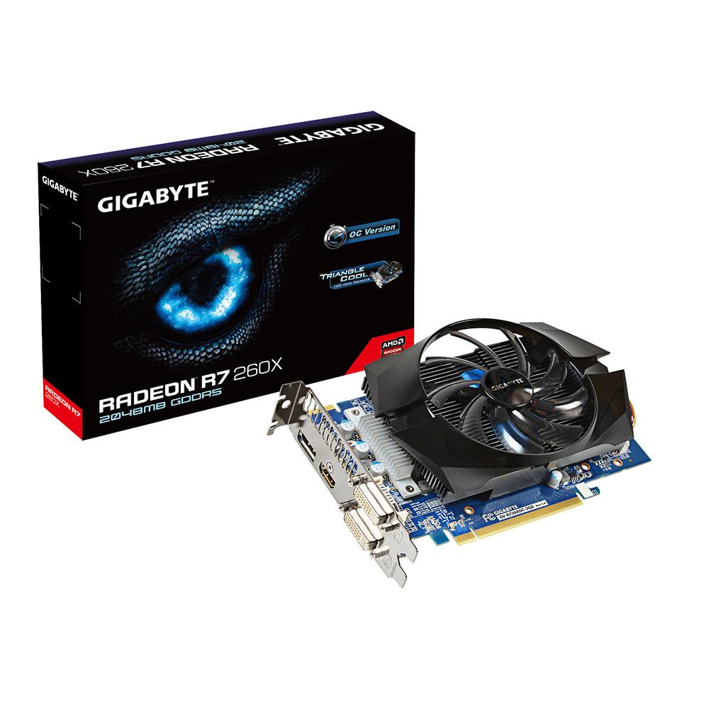 Carte graphique Gigabyte Radeon R7 260X GV-R726XOC-2GD 2 Go Dual DVI/HDMI/DisplayPort - PCI Express (AMD Radeon R7 260X)