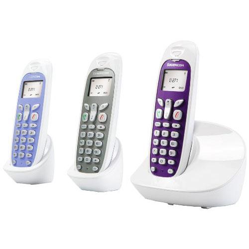 Téléphone sans fil Sagemcom D271 Trio Blanc Téléphone sans fil DECT et deux combinés supplémentaires (version française)