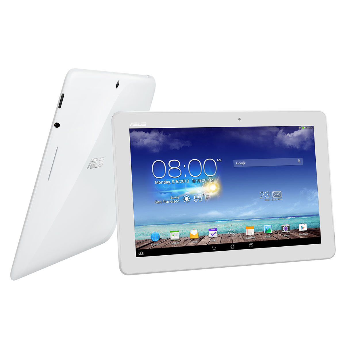 asus memo pad 10 me102a 1a018a blanc tablette tactile. Black Bedroom Furniture Sets. Home Design Ideas