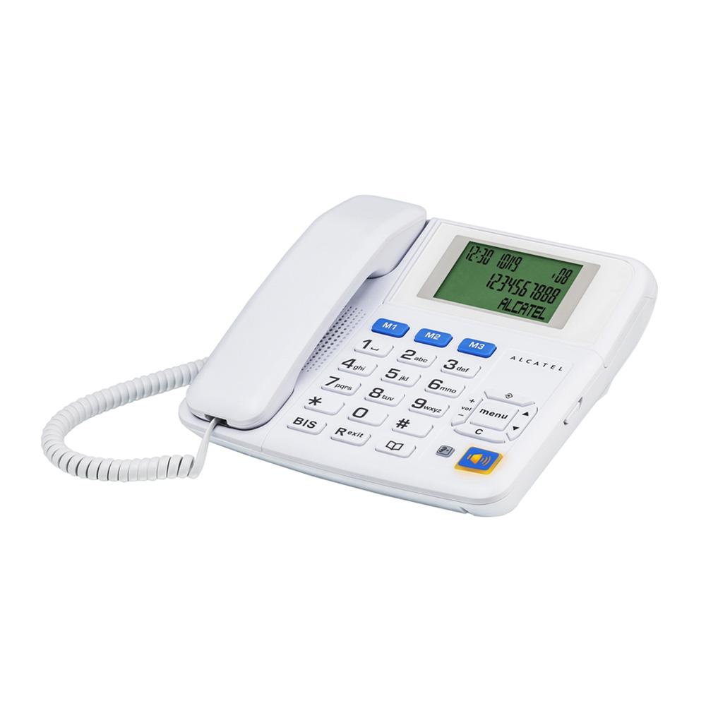 Téléphone filaire Alcatel Temporis T Max Blanc Téléphone filaire