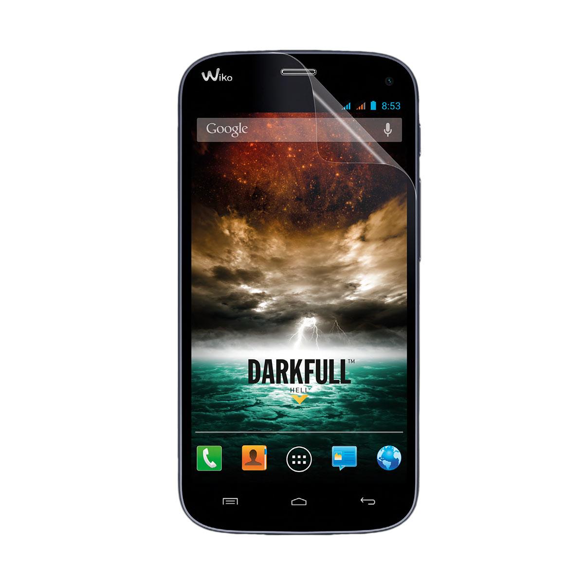 Film protecteur téléphone Wiko Kit de protection d'écran pour Darkfull Lot de 2 films de protection écran pour Wiko Darkfull