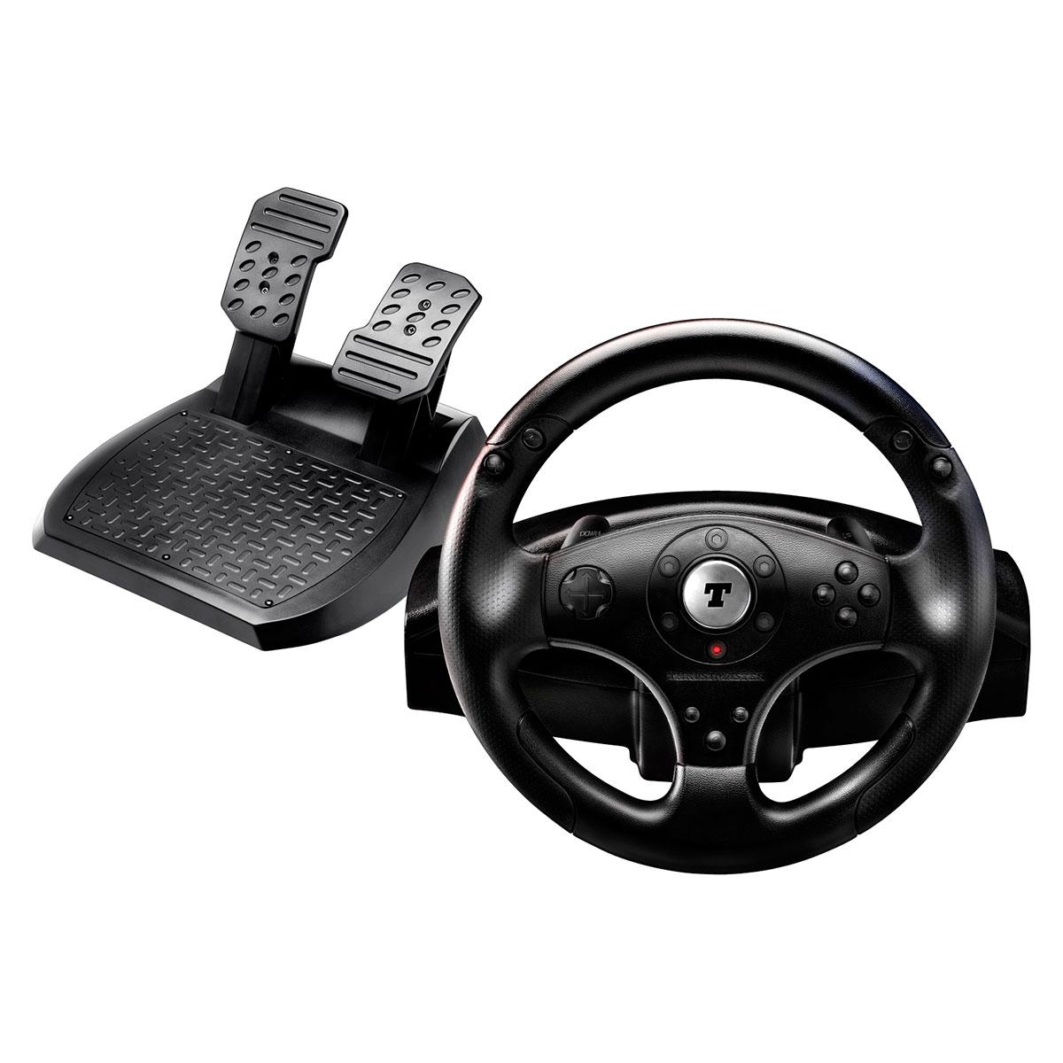 thrustmaster t100 force feedback racing wheel volant pc thrustmaster sur. Black Bedroom Furniture Sets. Home Design Ideas