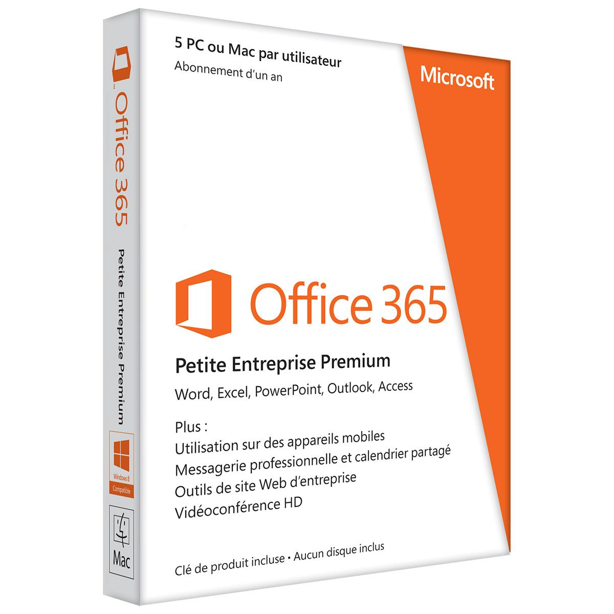 Microsoft office 365 petite entreprise premium logiciel bureautique microsoft sur - Prix pack office pour mac ...
