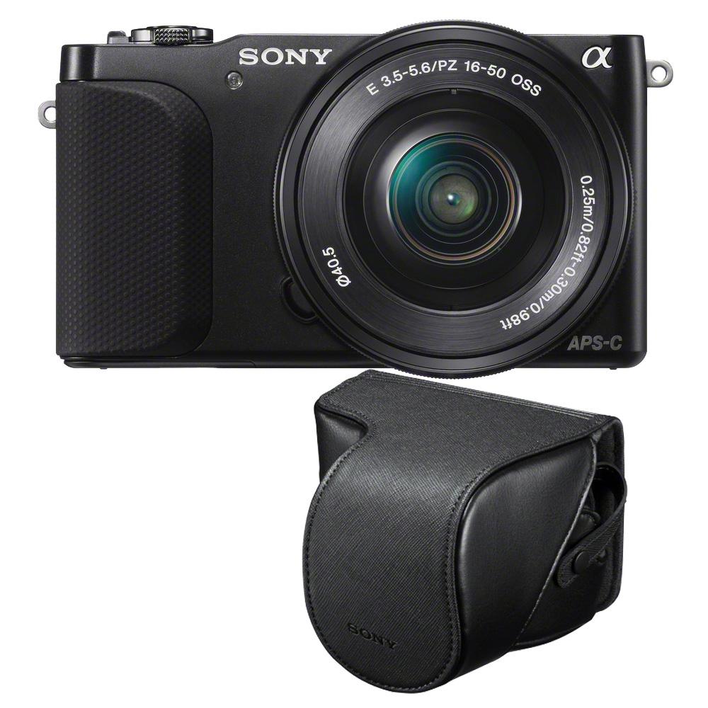 Sony nex 3nl noir avec objectif 16 50mm housse lcs ejc3 for Housse appareil photo hybride