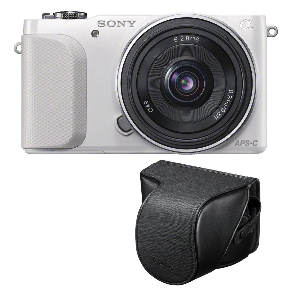 sony nex 3nl blanc avec objectif 16 50mm housse lcs ejc3 carte sd 8 go appareil photo