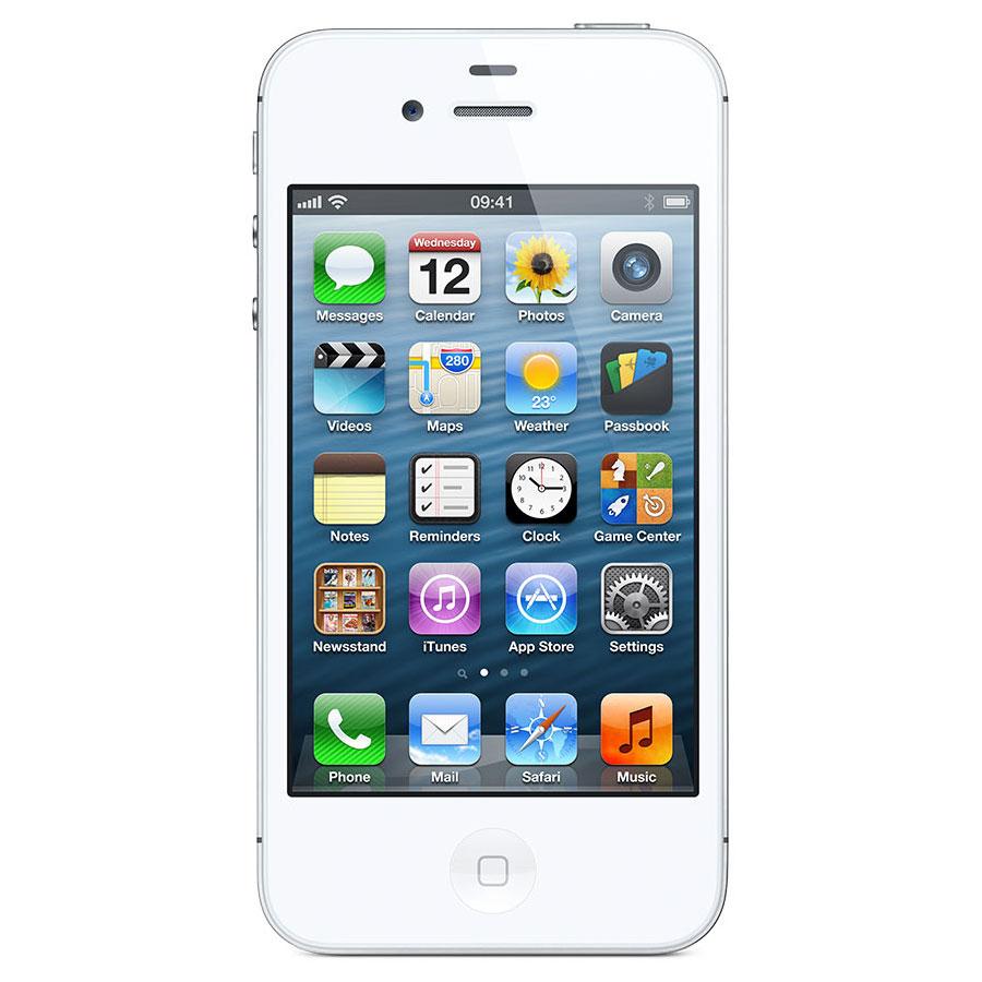 apple iphone 4s 8 go blanc mobile smartphone apple sur. Black Bedroom Furniture Sets. Home Design Ideas
