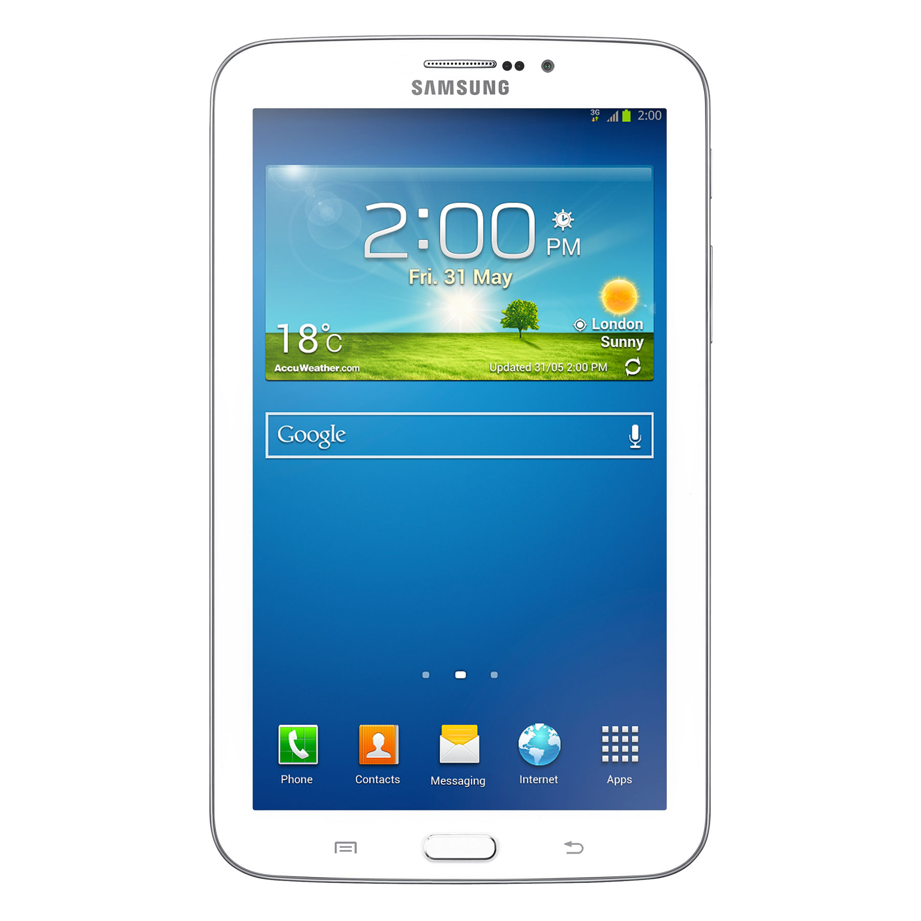 samsung galaxy tab 3 7 3g sm t2110 blanche 16 go tablette tactile samsung sur. Black Bedroom Furniture Sets. Home Design Ideas