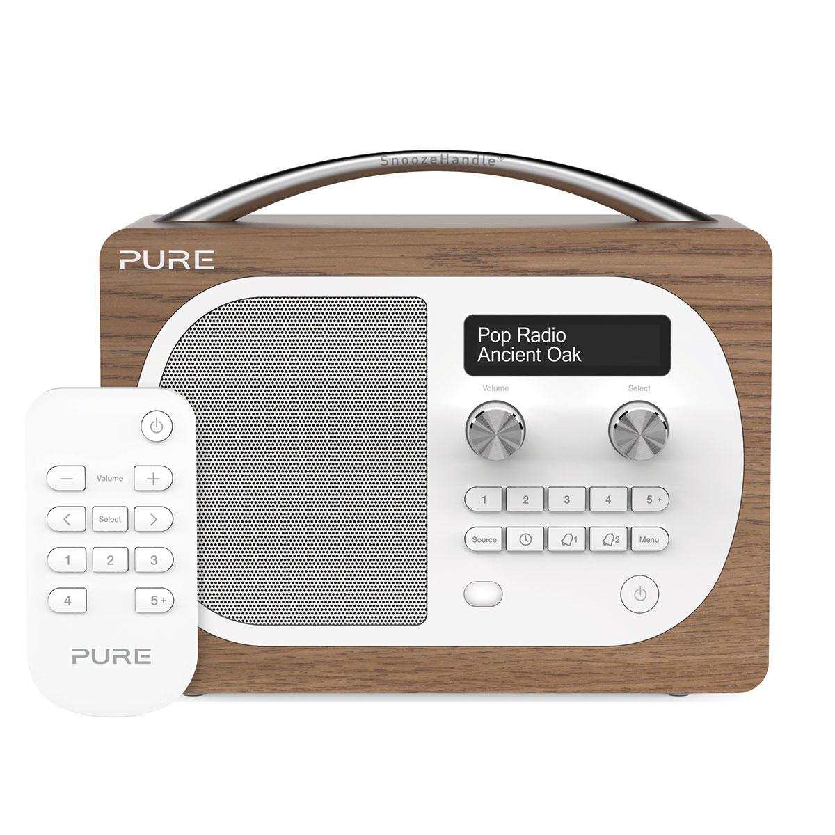 Pure evoke d4 oak radio radio r veil pure sur ldlc for Radio numerique portable