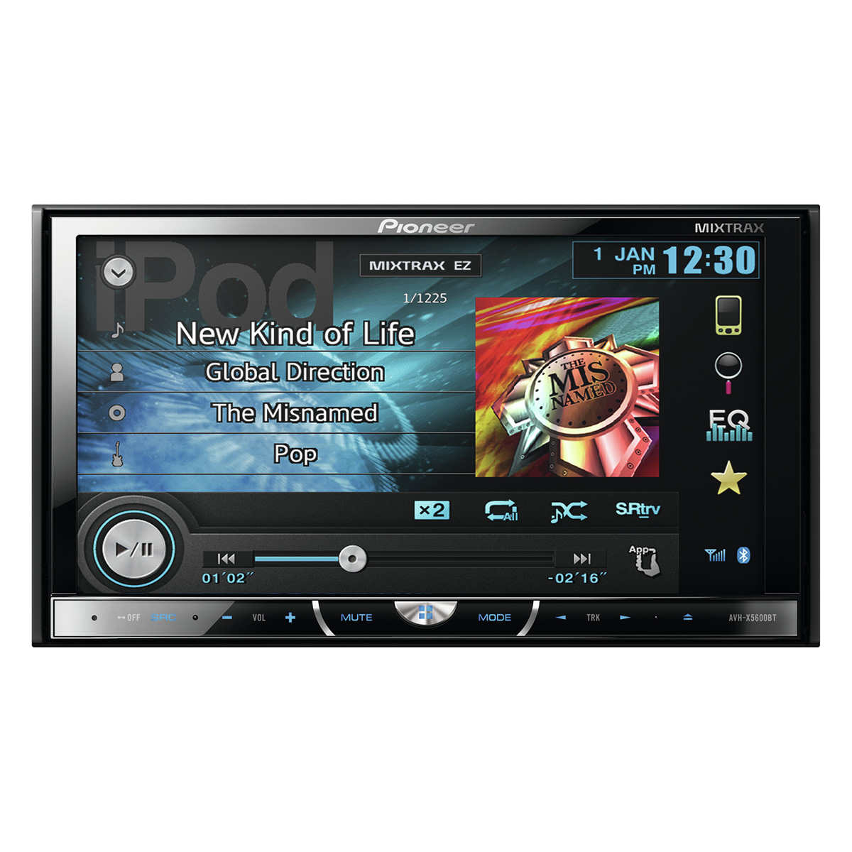 pioneer avh x5600bt autoradio pioneer sur. Black Bedroom Furniture Sets. Home Design Ideas