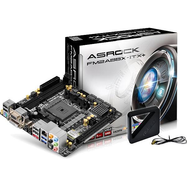 Carte mère ASRock FM2A88X-ITX+ Carte mère Mini ITX Socket FM2+ AMD A88X - SATA 6 Gbps - USB 3.0 - Wi-FiN/Bluetooth 4.0 - 1x PCI-Express 3.0 16x