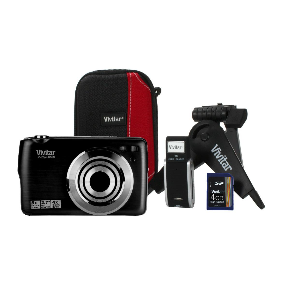 Vivitar vivicam s529 kit noir appareil photo num rique for Miroir projector 720p