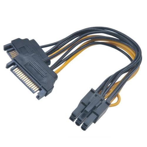 Serial ATA Akasa AK-CBPW13-15 Adaptateur alimentation SATA vers PCI-E 6 broches