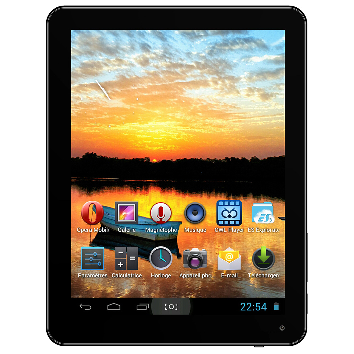 """Tablette tactile MPMAN MPDC88 BT IPS 8 Go Tablette Internet - ARM Cortex-A9 1,6 GHz 1 Go 8 Go 8"""" LCD tactile Wi-Fi N/Bluetooth 4.0/ Webcam Android 4.1"""