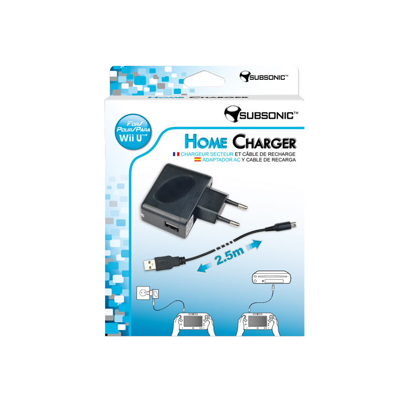 Subsonic Home Charger Noir Wii Wii U Accessoires Wii U