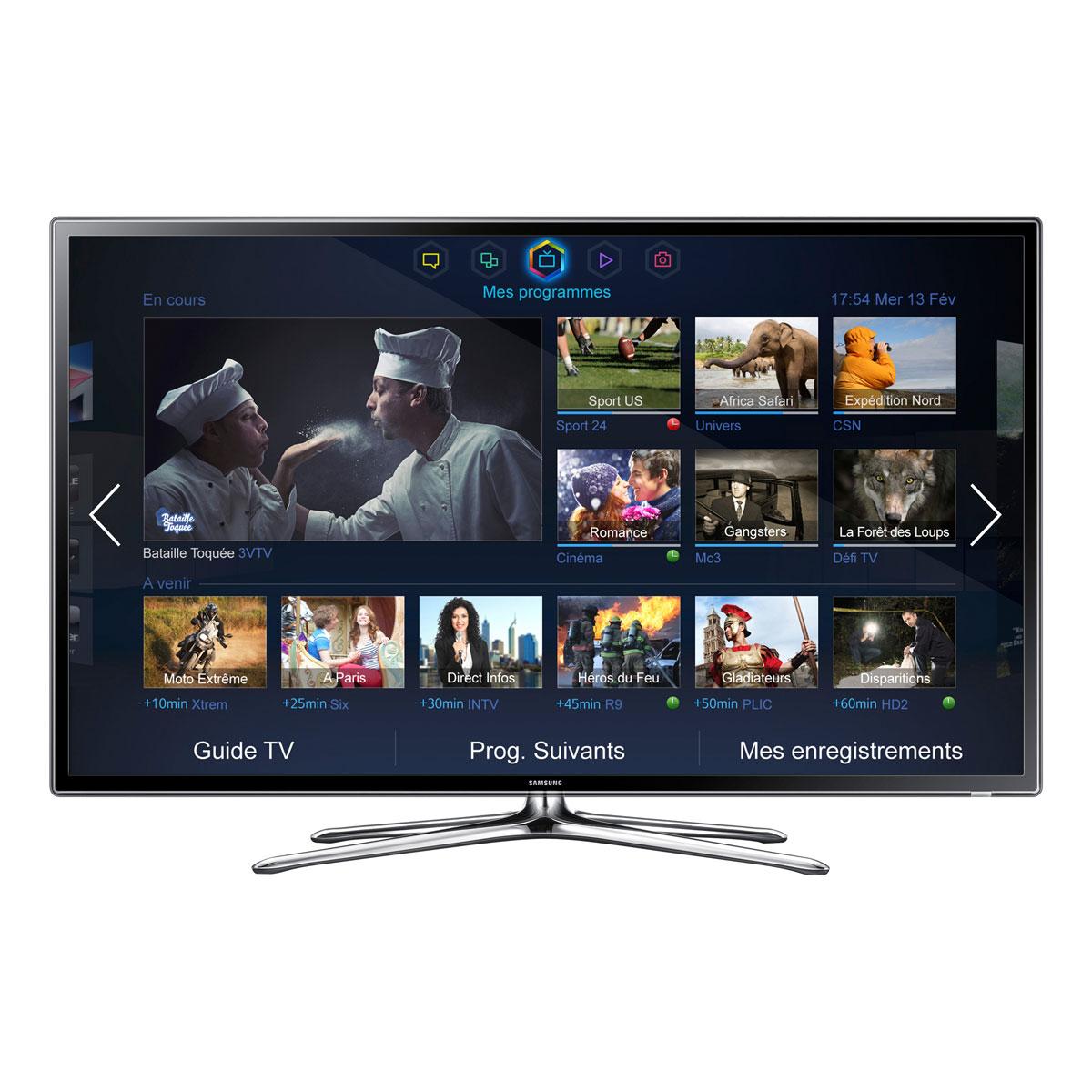 "TV Samsung UE55F6320 Téléviseur LED Full HD 3D 55"" (140 cm) 16/9 - 1920 x 1080 pixels - Tuner TNT HD et Câble - 200 Hz - DLNA Wi-Fi - HDTV 1080p"