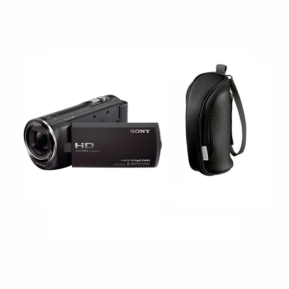 Sony hdr cx220 noir lcs bbe noir carte sd 8 go for Housse camescope sony