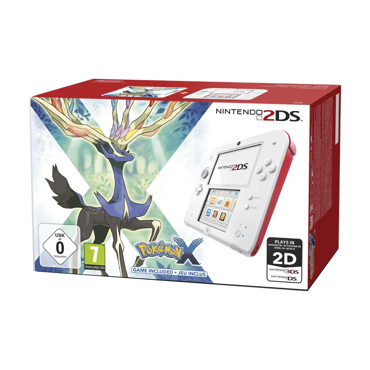 nintendo 2ds blanc rouge pokemon x console nintendo 3ds nintendo sur. Black Bedroom Furniture Sets. Home Design Ideas