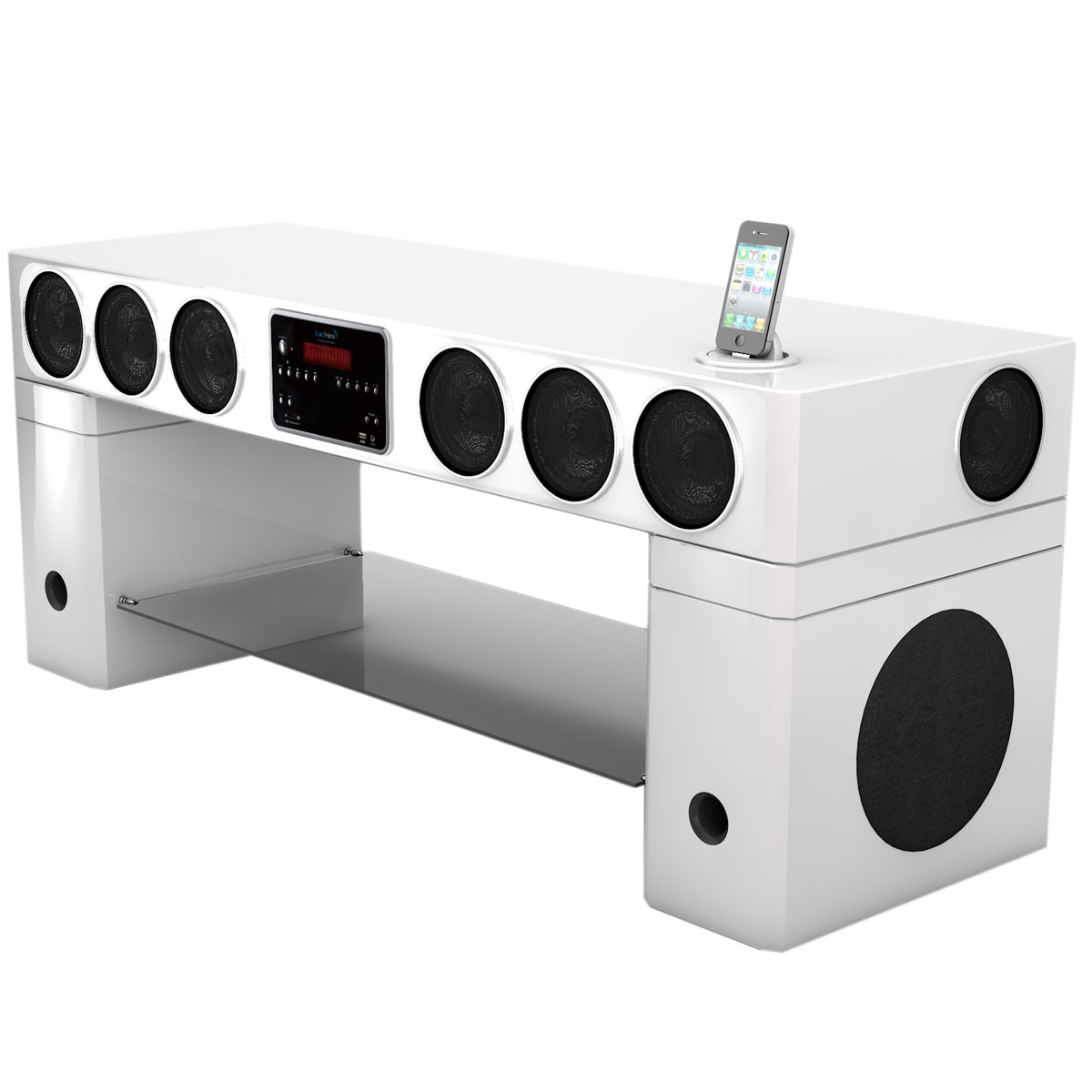 Soundvision Sv 440 Bt Blanc Ensemble Home Cin Ma For Meuble Tv Barre De Son  Integree