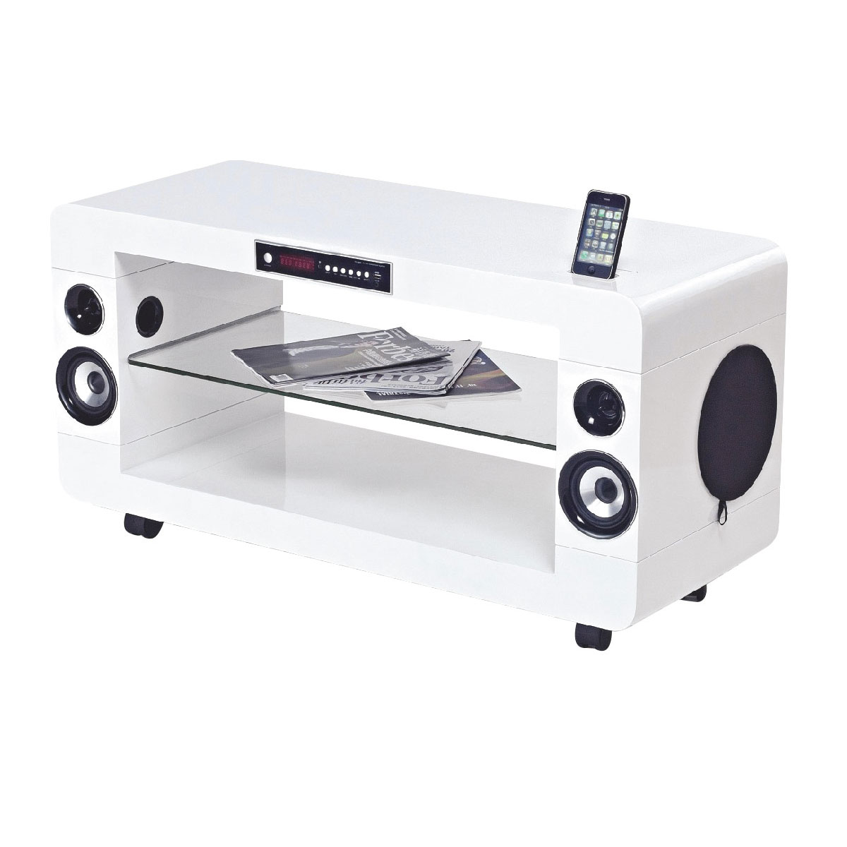ensemble home cinma soundvision sv 230 w blanc meuble home cinma 21 avec station d