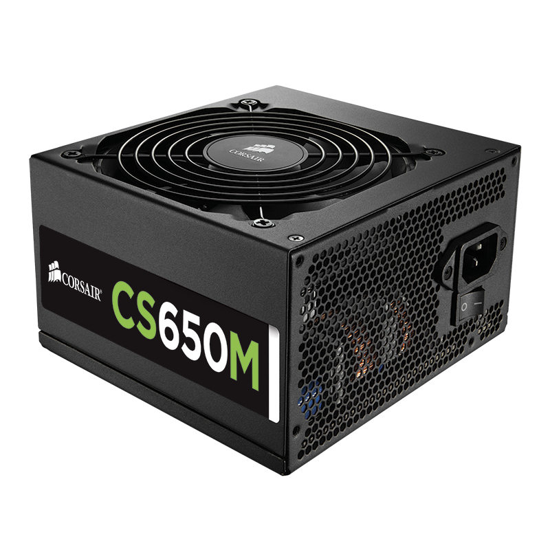 Alimentation PC Corsair CS650 80PLUS Gold Alimentation modulaire 650W ATX 12V 2.4 / EPS 2.92 - 80PLUS Gold (Garantie 3 ans par Corsair)