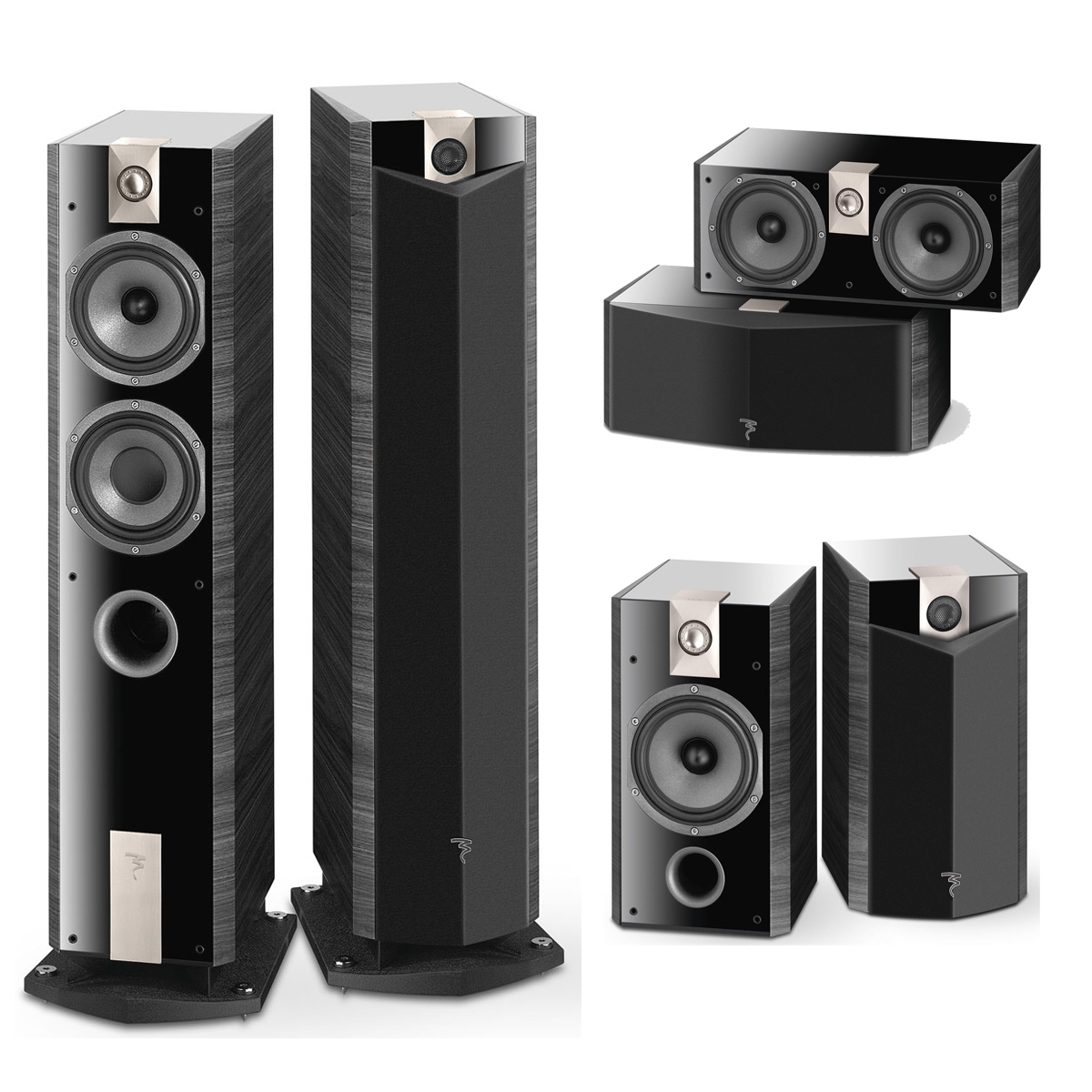 pack focal chorus 816 v ebony par paire focal chorus. Black Bedroom Furniture Sets. Home Design Ideas