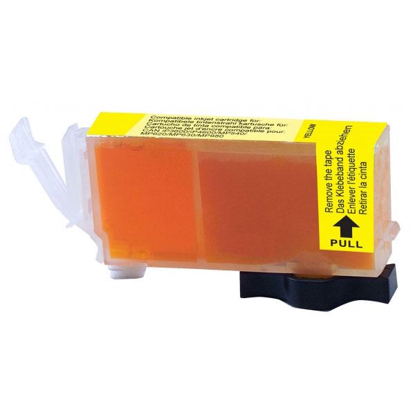 Cartouche imprimante Cartouche compatible CLI-521Y (Jaune) Cartouche d'encore jaune compatible Canon CLI-521 Y