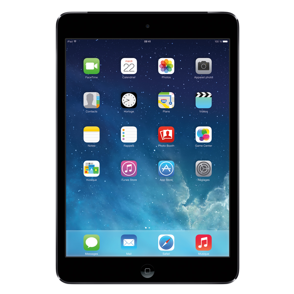 apple ipad mini avec cran retina wi fi 64 go gris sid ral tablette tactile apple sur. Black Bedroom Furniture Sets. Home Design Ideas