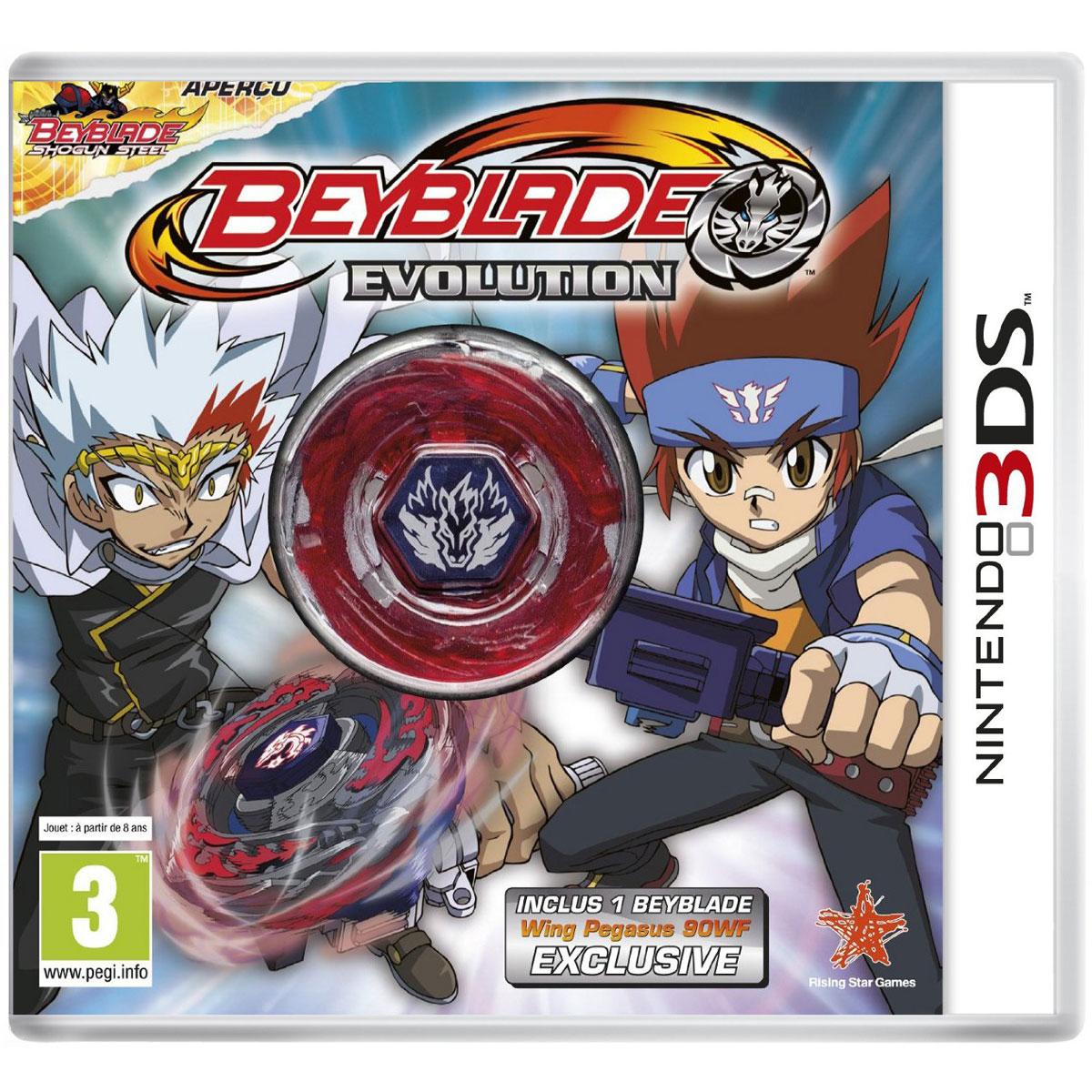 Beyblade evolution toupie nintendo 3ds 2ds jeux - Toupie beyblade shogun steel ...