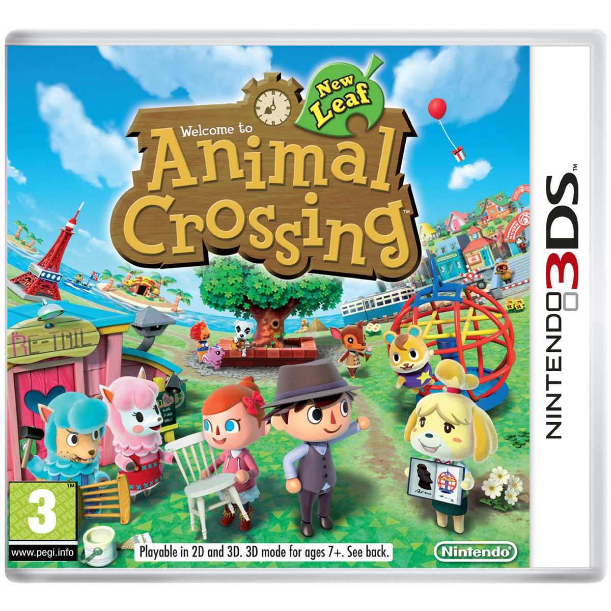 animal crossing new leaf nintendo 3ds 2ds jeux nintendo 3ds nintendo sur. Black Bedroom Furniture Sets. Home Design Ideas